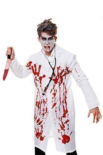 Halloween Kostüm Blutiger Arzt Erwachsene Unisex Jacke Chirurg Kostüm Verkleidung