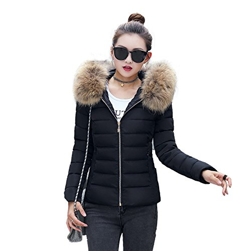 Theshy Damen Winterjacke Wintermantel Lange Daunenjacke Jacke Outwear Frauen Winter Warm Daunenmantel Arbeiten Sie festen beiläufigen dickeren dünnen Mantel um