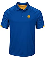 "Golden State Warriors Majestic NBA ""Excitement"" Men's Synthetic Polo Shirt Chemise"