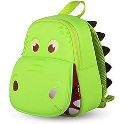 Sac à Dos Enfant, OFUN 3D Dinosaure Bébé Sac Scolaire pour Enfant Primaire Maternelle, Cartable Scolaire Maternelle(Vert)