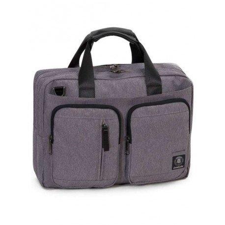 Invicta Messenger Backpack 15.6\'\' Rucksack, 42 cm, Grau (841)