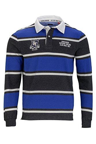 Kitaro Herren Shirt Langarm-Poloshirt College Sonderprogramm, Farbe: Dunkelblau, Größe: XL (College-rugby-shirt)