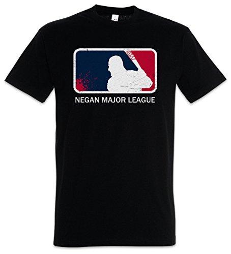 "Negan Major League ""J"" T-Shirt – Walking The Lucille Baseball Bat Dead Rick Carl Zombie Grimes Biters Barbwire Größen S – 5XL (Baseball Dead)"