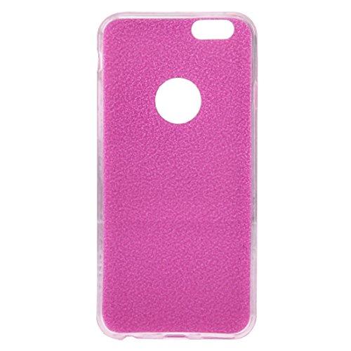 Pour iPhone 6 / 6s, Glitter Powder Soft TPU Housse de protection JING ( Color : Black ) Pink