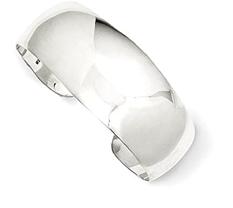 IceCarats 925 Sterling Silver Solid Polished Plain Cuff Bangle Bracelet