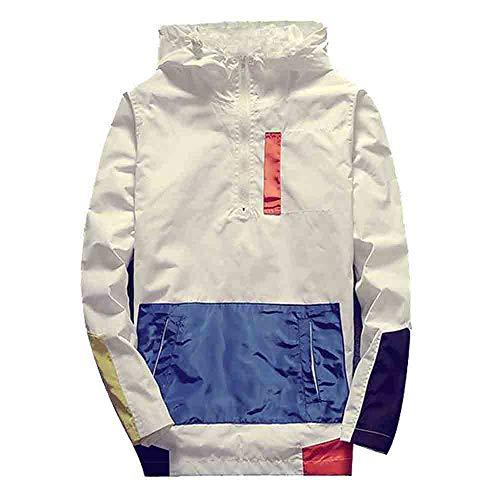 Xmiral Herren Sweatjacke Pullover Herbst Winter Langarm Mit Kapuze Oberbekleidung (3XL,Weiß)