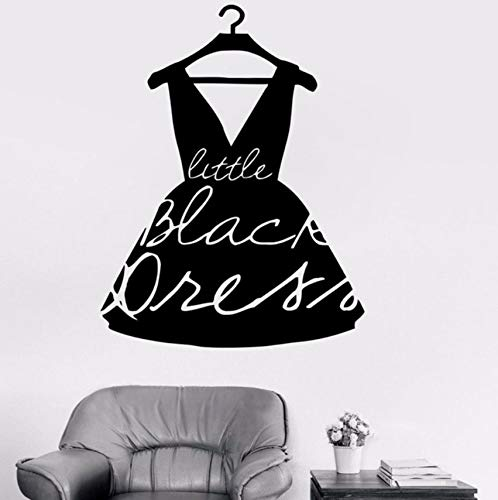 (Hwhz 42 X 55 Cm Mode Little Black Dress Style Vinyl Aufkleber Mädchen Wandtattoo Für Kleidung Boutique Fenster Shop Wohnzimmer Wasserdicht)