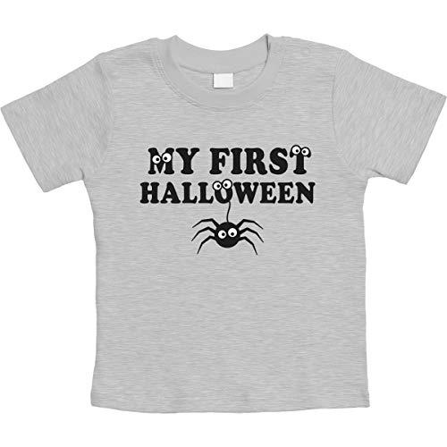 Kostüm Augen Spider - Spider Spinne My First Halloween Gruselig Unisex Baby T-Shirt Gr. 66-93 3-6 Monate / 66 Grau