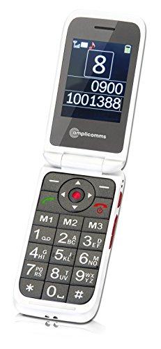 amplicomms PowerTel M7000i 2 4  99g Blanco Tel  fono b  sico - Tel  fono m  vil  Concha  SIM   nica  6 1 cm  2 4    Bluetooth  900 mAh  Blanco