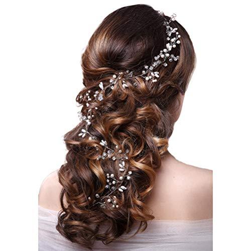 chzeit Mode Kopfschmuck Für Braut Handgemachte Hochzeit Crown Floral Perle Haar Zubehör Haarnadel Ornamente ()