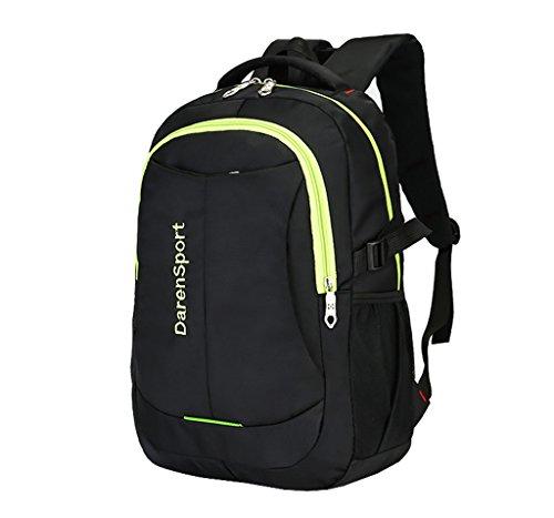 Super Modern Unisex Nylon Schule Rucksack 43,2cm Laptop Tasche Wandern Rucksack Cool Sports Rucksack College Student Rucksack Schwarz