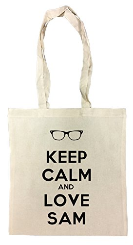 keep-calm-and-love-sam-shopping-bag-beach-cotton-reusable