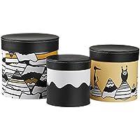 Kids Concept 310845 Pappboxen rund 3-er Set hellgr/ün