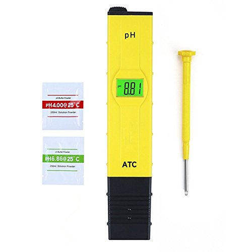 PH Tester Meter Digital, GYOYO PH Tester Meterportátil Prueba Digital Multi Function PH / Prueba PH portátil / Hidropónica para Acuario Piscina, Industria de la Pesca, Piscinas, Laboratorios Escolares, Alimentos y Bebidas