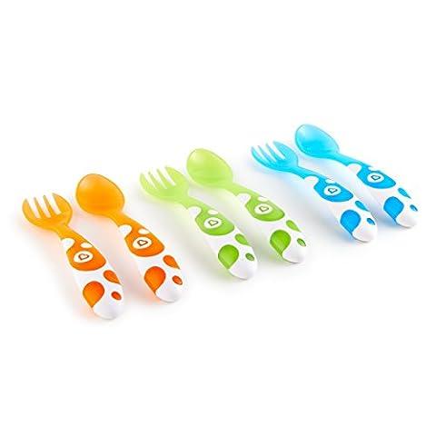 Munchkin Fourchettes et Cuillères Multicolores - Lot de 6