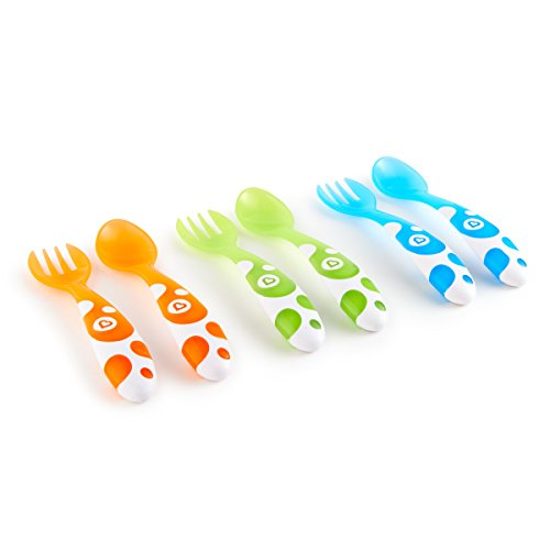 Munchkin Forks and Spoons – Multi-Coloured, Pack of 6 41kf5zp6deL