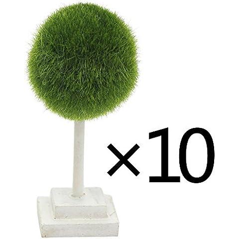 Vimi Mini artificiali Piante e alberi, scrivania da ufficio decorazione, Palla Verde, 12cm (Set di 10)