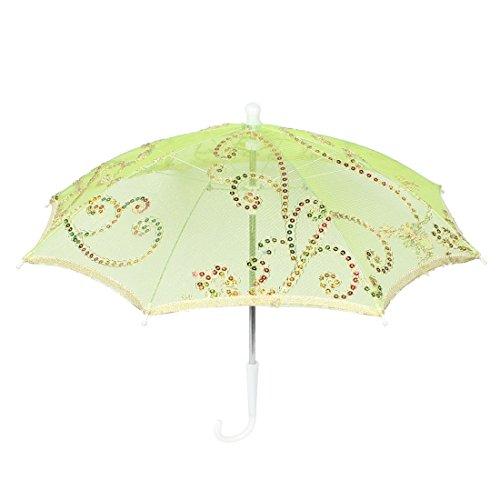 Bridal Shower Vert Embroider Ombrelle en Dentelle Mini Motif Floral