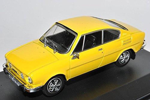 Skoda-110R-Coupe-Solar-Gelb-707GK-143-Abrex-Modell-Auto-mit-oder-ohne-individiuellem-Wunschkennzeichen