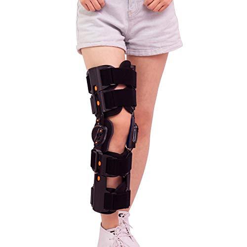 WJHJBB Klappknieorthese mit Gurt, Verstellbarer Beinstabilisator - Orthopädischer Schutz Patella Injury -
