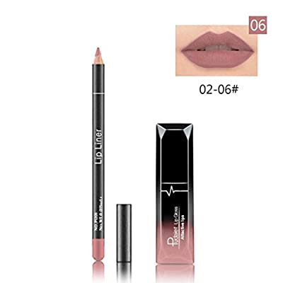 Covermason Waterproof Matte Long Lasting Liquid Lipstick Gloss Color + Lip Liner Cosmetics Set by Covermason