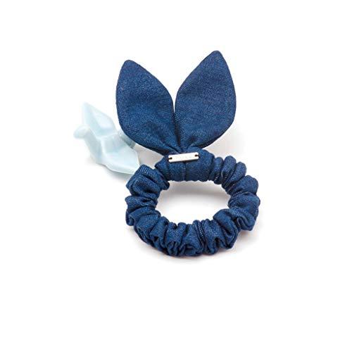 BOLAWOO-77 Corda In Tessuto Twill Denim Corda Larga In Gomma Mode di marca Elastica Per Capelli Lovel Cerchio Uomo Ragazza (Colore Azzurro) (Color : Dunkelblau, Size : One Size)