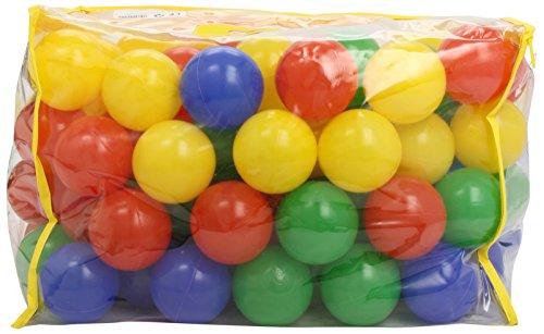 Imagen principal de Bieco 22000510 - 100 bolas de colores de plástico (6 cm), colores variados [importado de Alemania]