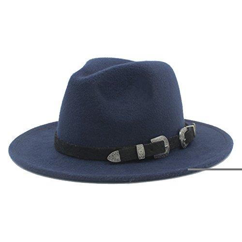 HUILIAN HATS Chapeau à la Mode, Laine Femmes Hommes Large Brim Fedora Hat pour avec Le Style Punk
