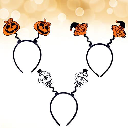 Healifty 3 stücke Halloween Haarband Hexe schädel kürbis Muster Haarband Kopfbedeckung für Kinder kostüm Party (Kostüm Muster Für Kinder)