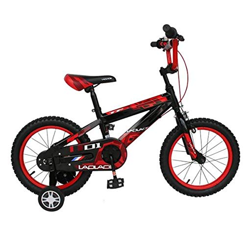 14 and 16 Inch Mini Children Bike Freestyle Kids Bikes Steel Frame Bicycle Cycling 3 Colors - Black & Red 14
