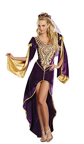 Dreamgirl Queen of Thrones Kostüm _ (Thrones Of Queen Erwachsenen Kostüme)