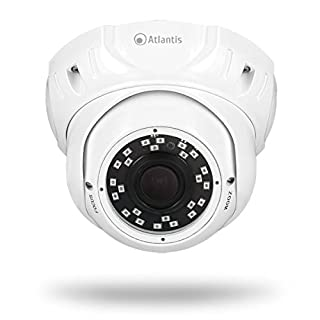 Atlantis Land MEGAVIEW 820DV 1920X1080 2MPX CCTV Security Camera Indoor and Outdoor Dome White – CCTV Security Camera, Indoor and Outdoor, 20 m, English, French, Italian, Cushion, White)