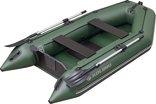 kolibri KM-280 Motorboot - Schlauchboot Ruderboot Angelboot Beiboot - inkl. Heckspiegel, Transporttasche, Fuß-Luftpumpe & Reparatur-Set