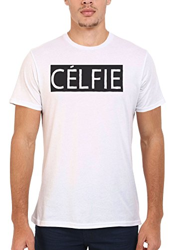 Celfie Selfie Alone Meow Cool Black Men Women Damen Herren Unisex Top T Shirt .Weiß