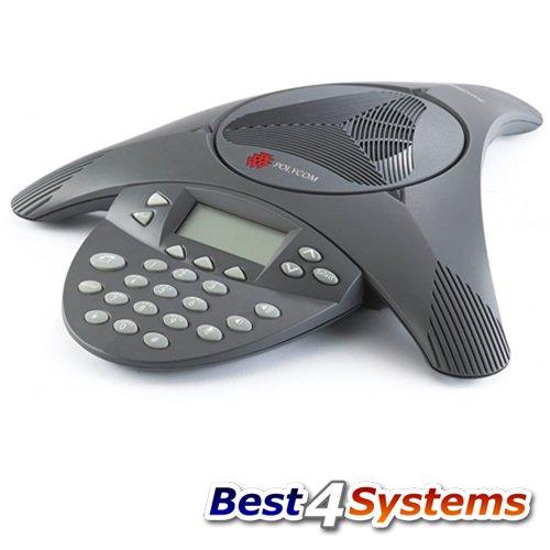 Polycom SoundStation 2ex Audio Konferenztelefon, (Zertifiziert und Generalüberholt)
