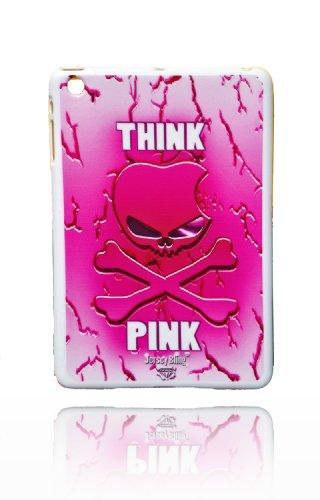Jersey Bling Think Pink Skull Apple iPad Mini Logo Punk Silikon TPU Case Cover w/Gratis Jersey Bling Stylus Skull Bling