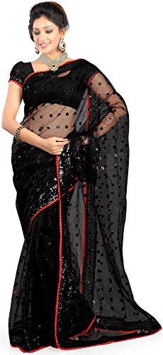 Aksh Fashion women's Net with heavy zari border work & heavy blouse...