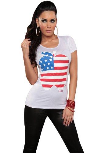 Apple Top Shirt (KouCla Damen T-Shirt Top Longshirt