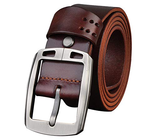 FULANTE Ledergürtel, Männer erste Schicht Ledersportwagen Schnallengurt Leder Dual-Use-Gürtel für Männer