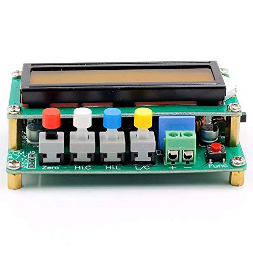 Globalflashdeal Tabella di induttanza del misuratore di capacita\' LCD digitale TESTER LC Meter Frequenza 1pF-100mF 1uH-100H LC100-A + Clip di prova