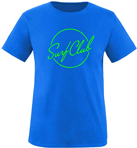 EZYshirt® Surfclub Herren Rundhals T-Shirt Royal/Neongrün