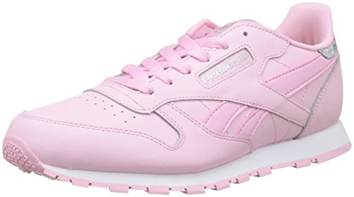 separation shoes 58879 c18c5 Reebok Classic Leather Pastel, Zapatillas para Niñas, Rosa (Charming  Pink/White), 37 EU