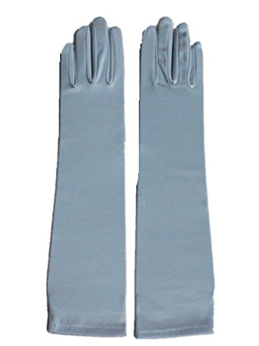 ge Arm Handschuhe Abendgesellschaft Opern Braut Tanz Kostüm Handschuhe 16 Farben (Lake Blue) (Herren Halloween-kostüme Der 1920er Jahre)