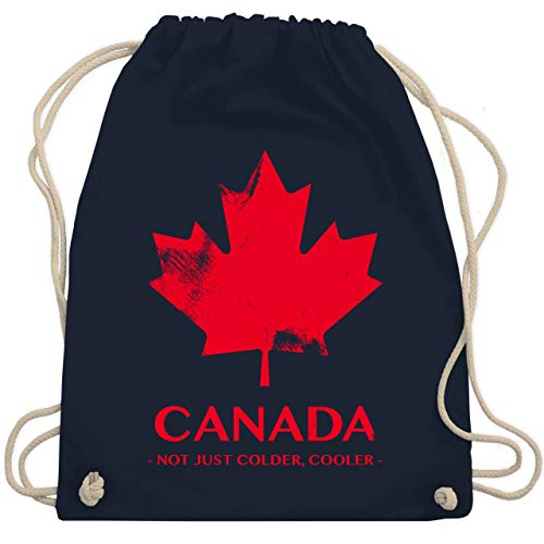 Länder - Canada Vintage Not just colder cooler - Unisize - Navy Blau - WM110 - Turnbeutel & Gym Bag (Kanada-stoff)