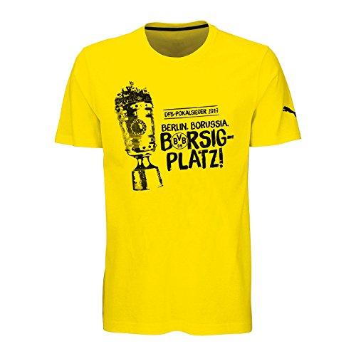 Borussia Dortmund BVB T-SHIRT ZUM DFB - POKALSIEG 2017 + gratis Sticker Dortmund forever, Tshirt (XXL) (Ausdrücke Mädchen Geldbörse)