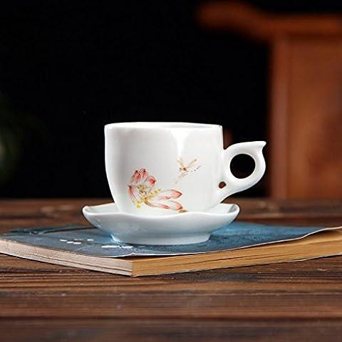 CGHUA Jingdezhen in ceramica dipinto a mano Lotus creativo tè