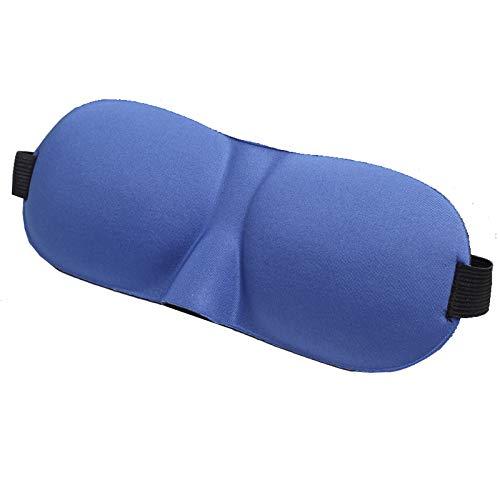T-YZAG 2 piezas Máscara ocular 3D Sombreado del sueño Luz estéreo Productos de viaje cómodos al aire libre transpirables Unisex, máscara ocular 3D azul