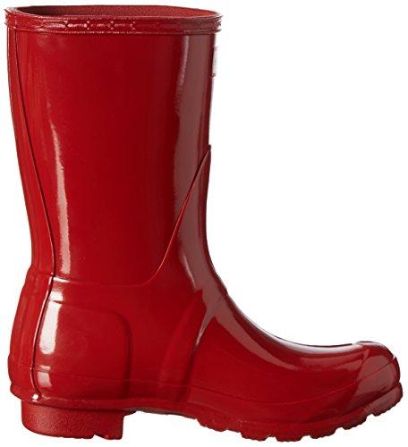 Hunter WOMENS ORIGINAL SHORT GLOSS - Stivali di gomma non imbottiti da donna Rot (Military Red)