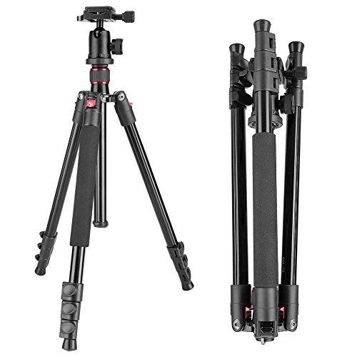 Neewer Alluminum Legierung 158 Zentimeter Kamera-Stativ mit 360 Grad Kugelkopf, 1/4 Zoll Schnellwechselplatte, Tasche für DSLR-Kamera, Video-Camcorder, Lastkraft bis zu 8 Kilogramm (Tasche Video-kamera)