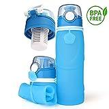YCBest Bottiglia d'Acqua Pieghevole in Silicone 750ml BPA a Prova d'Acqua (Cielo Blu)